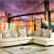 New York City Wallpaper For Bedroom Popular 3d Wallpaper Walls New York City Buy Cheap 3d Wallpaper