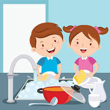 boy washing dishes clipart.  Clipart Kids Washing Dishes Vector Art Illustration To Boy Washing Dishes Clipart