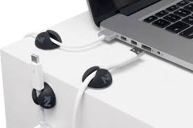 cable clips black cord keepers wire holder desk charger multipurpose organizer t