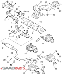 Saab 9 3 parts diagram beautiful esaabparts saab 9 3 9440 engine parts exhaust system