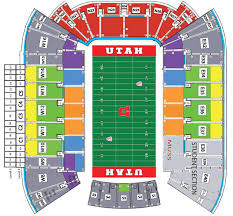Utah Utes Basketball Seating Chart Football Seating Map Utahtickets Com Your Official Home