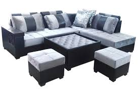 incredible lambert l shape sofa set center table and 2 puffy dream furniture