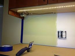 diy under cabinet led lighting ideas for kitchen with cream kitchen countertop and green wall renovation