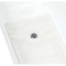 foam bath mat in white
