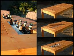 diy patio table. Wonderful Table VIEW IN GALLERY Patio Table With Wine Cooler Wonderfuldiy2 Wonderful DIY  Patio Table Built In Wine Cooler With Diy