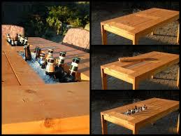 diy wood patio furniture.  Furniture VIEW IN GALLERY Patio Table With Wine Cooler Wonderfuldiy2 Wonderful DIY  Patio Table Built In Wine Cooler For Diy Wood Furniture I