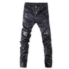 Rock Revival Plus Size Chart Korean Punk Rock Trousers Black Tight Faux Leather Pants For