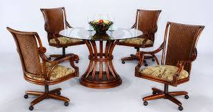 Lovely Ideas Rolling Dining Room Chairs Winsome Design Catchy - Casters for dining room chairs