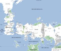 geographic map  the known world  atlas of ice and fire