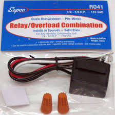 r supco refrigerator relay overload for hp r041 supco refrigerator relay overload for 1 4 1 3 hp compressors 115