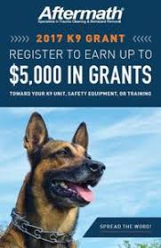 Aftermath Services Launches 6th Annual K9 Grant