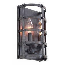 sconces wall lighting. Townsend Vintage Iron 6.5-Inch High Two-Light Wall Sconce Sconces Lighting H