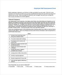35 Self Assessment Form Templates Pdf Doc