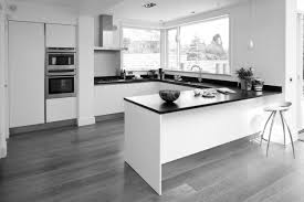 Wooden Floors In Kitchens Black And White Kitchen Wood Floor Home Design And Decorating