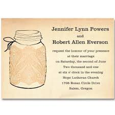 fall mason jars wedding invitations with lace ewi243 as low as $0 94 Wedding Invitations Jars printable lace mason jars fall wedding invitations ewi243 wedding invitations rsvp