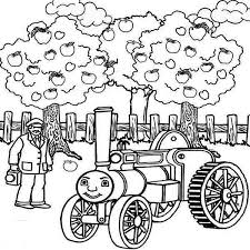 Small Picture Thomas the Train and Apple Tree Colouring Page Happy Colouring