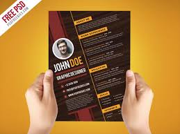 Modern Resume Infographics Creative Graphic Designer Resume Template Psd Psdfreebies Com