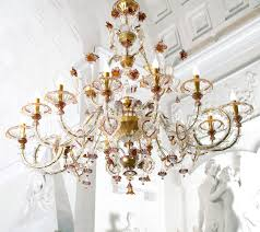 grand murano glass chandelier l1472k12 traditional rezzonico style clear gold amethyst
