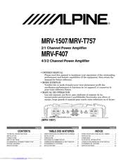 alpine mrv t757 manuals alpine mrv t757 owner s manual