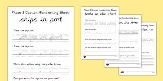 Hand Writing Sheets Free Phase 3 Captions Handwriting Sheets Handwriting