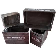 china 5pcs dark brown wooden crates set for storage vintage color wood crate china personalised wooden beer crate vintage wooden box