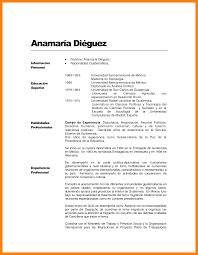Curriculum Word Resume Vitae Mexico Pdf Curriculum Formato Um Samples For Teachers