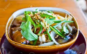 Put Tofu Soup With Seafood And ...
