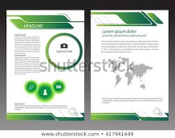 Green Brochure Template Green Brochure Template Layout Design Stock Vector Royalty Free