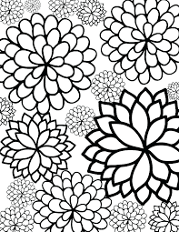Coloring Pages Of A Flower Tropical Flowers Stained Glass Coloring