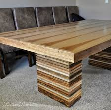 Furniture DIY Dining Table Bench Absorbing Leaf Collapsible