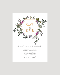 Save The Date Designs Muted Floral Save The Date Card