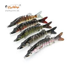<b>Fishing</b> Wobblers <b>Lifelike Fishing</b> Lure <b>8 Segment</b> Swimbait ...