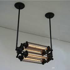 led strips modern pendant lamps iron vintage lights 4 heads indoor lighting black e27 bar night black pendant lighting