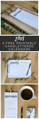 Printable 2018 Calendars Have Arrived! - Lemon Thistle