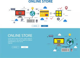 online format online store web design with infographic illustration free vector in