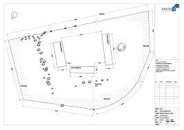 simple site development plan of a house sea