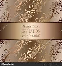 Baroque Wedding Invitations Vintage Baroque Wedding Invitation Template Butterfly Background