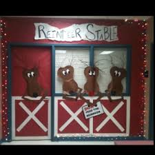 christmas door decorations for office. Simple Decorations 10 Office Christmas Door Decorating Contest Reindeer Abominable Snowman  Complete With Reindeer Under His Feet  Getoutmaorg In Decorations For
