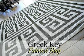 greek key outdoor rug paint a geometric