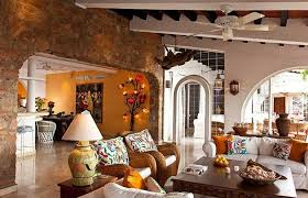 lively mexican style living room