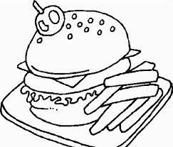 Disegni Da Colorare Hamburger E Patatine Disegni Da Colorare E