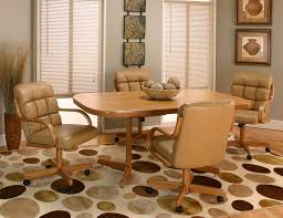 dinette sets chairs with casters. kitchen dinette sets with stunning dining room table and chairs wheels casters