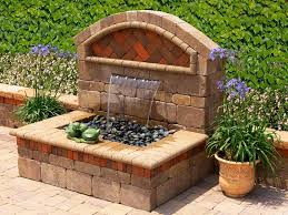 wall mounted water fountains wall garden fountains water features