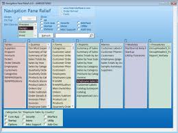Access Software Navigation Pane Relief For Microsoft Access From Peters Software