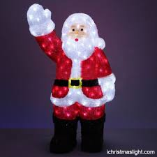 Outdoor Lighted Santa Claus