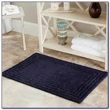 navy bath rug