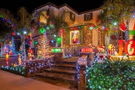 amazing christmas exterior lights display on a big home in southern california christmas a29