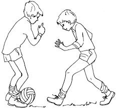 Disegni Da Colorare Bambini Che Giocano A Calcio Fredrotgans