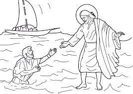 Jesus Walks On Water Coloring Pages Futuramame