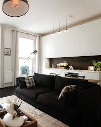 1 Black Sofa